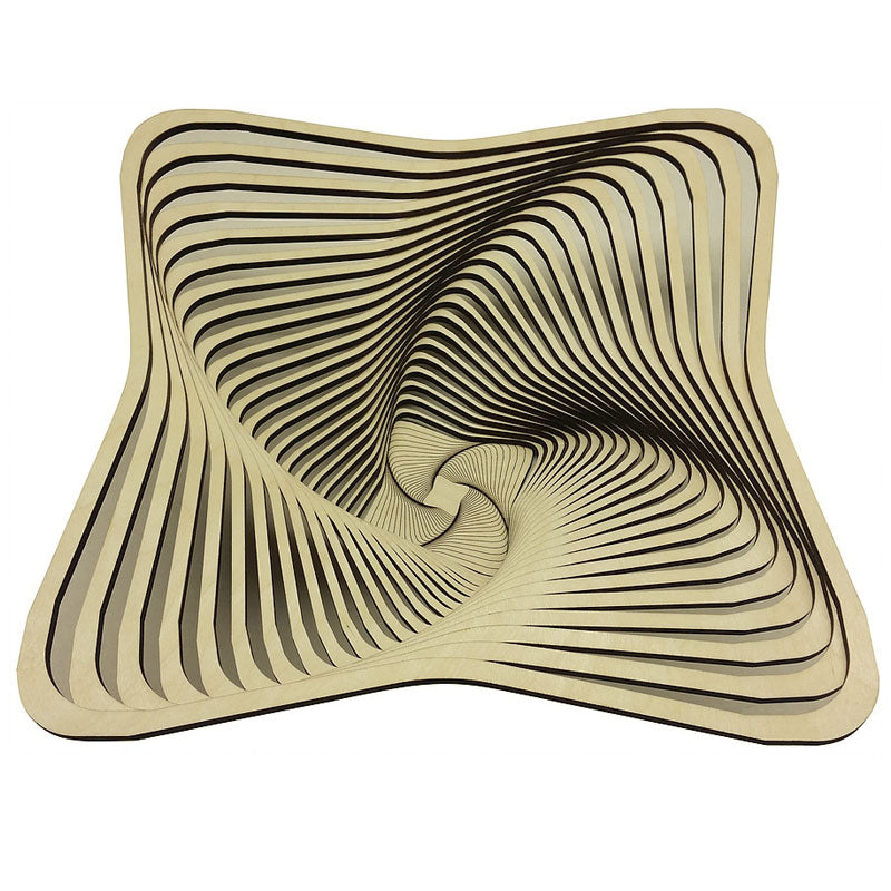 Laser Cut Wooden Bowl - Square
