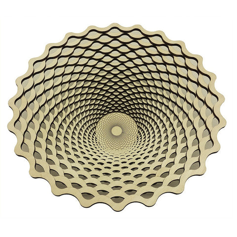 Laser Cut Wooden Bowl - Weave