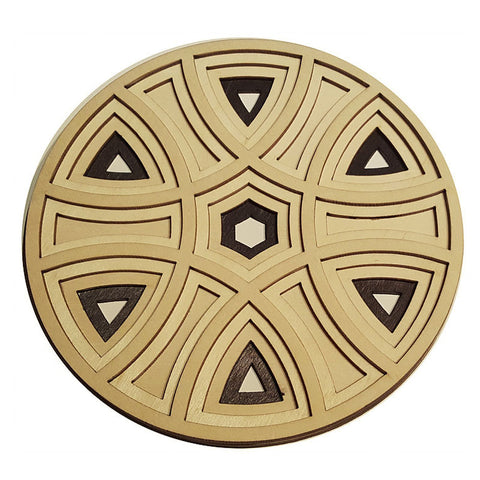 Laser Cut Wooden Trivet - Stepped