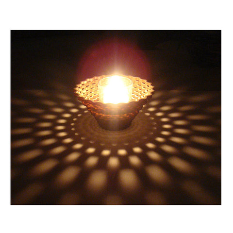 Laser Cut Wooden Votive - Weave