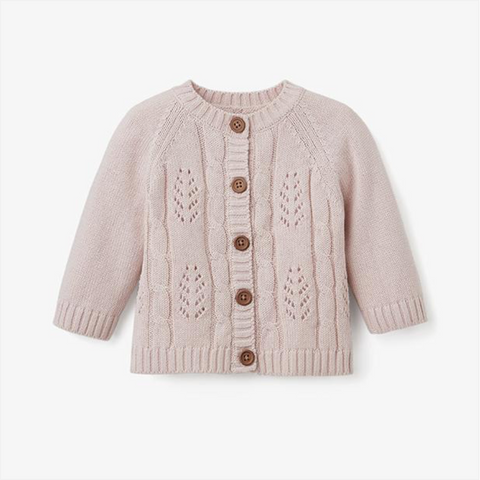 Blush Knit Baby Cardigan