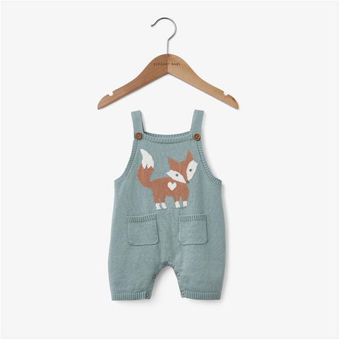 Teal Fox Shortall Baby Bodysuit