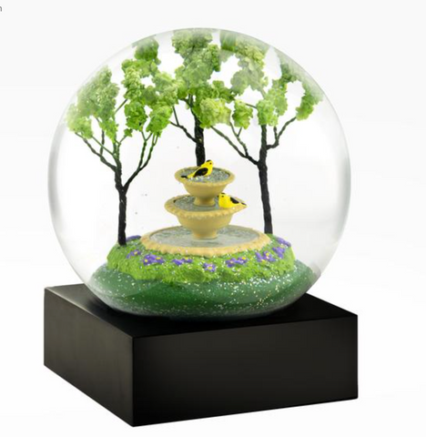 """Two Goldfinches"" Snow Globe"