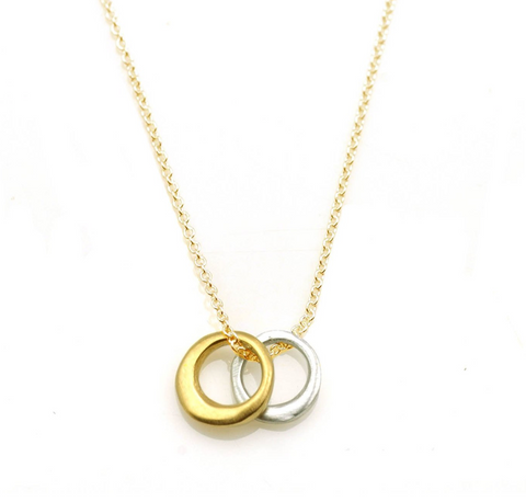 Philippa Roberts Two Little Circles Necklace