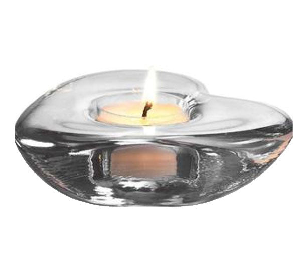 Simon Pearce Heart Tealight Candle