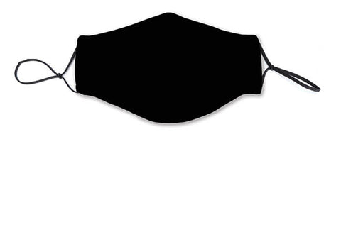 Fabric Face Mask Covering - Black Solid