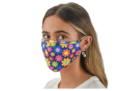 Fabric Face Mask Covering - Daisies