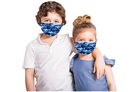Kids Face Mask Covering - Sharks