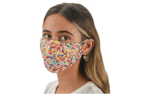 Fabric Face Mask Covering - Paint Splatter