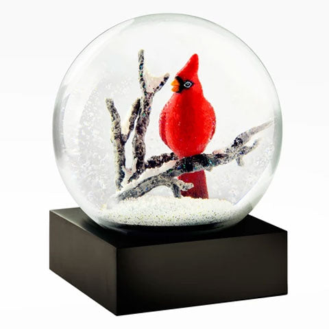 """Winter Cardinal"" Snow Globe"