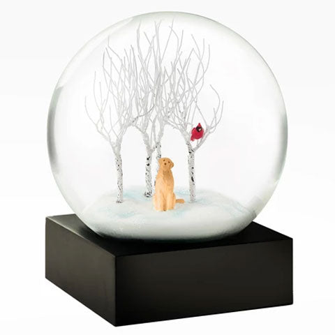 """Dog in the Woods"" Snow Globe"