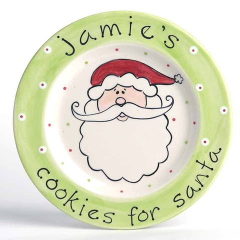 Personalized Holiday Cookies for Santa Plate