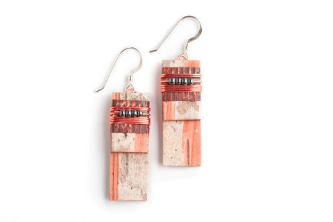 Tessoro Birch Bark Layered Earrings
