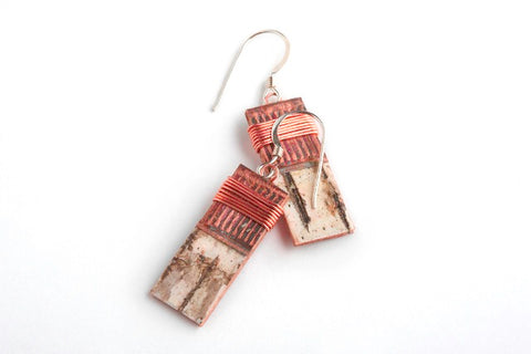 Tessoro Birch Bark Earrings