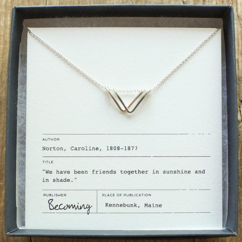 Triangle Drop Necklace - Old Friends