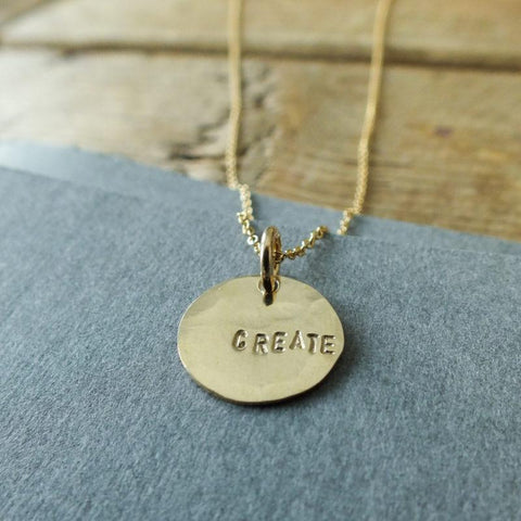 "Inspirational Pendant  ""Create"""