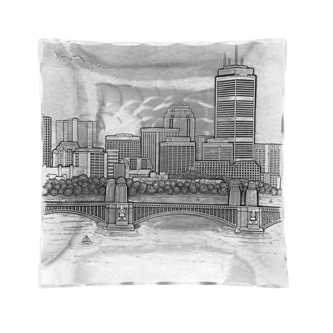 Boston Skyline Hudson Small Square Tray