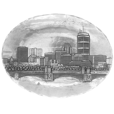 Boston Skyline Medium Oval Dish