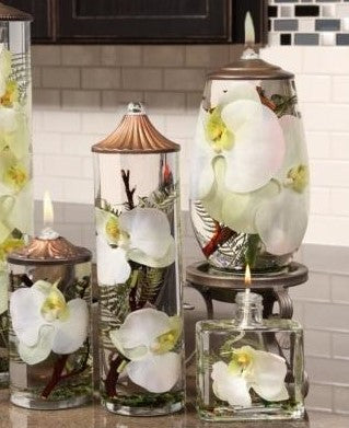 "Lifetime Oil Burning ""White Orchid"" Theme Candles"
