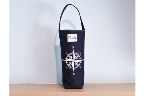 Half-n-the-Bag Compass Rose Wine Bag