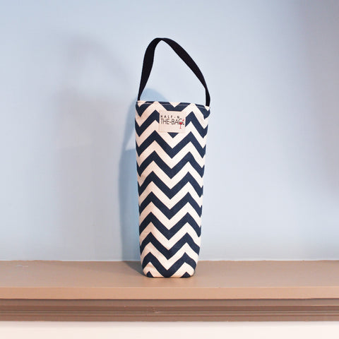 Half-n-the-Bag Chevron Wine Bag