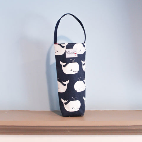 Half-n-the-Bag Whales Wine Bag