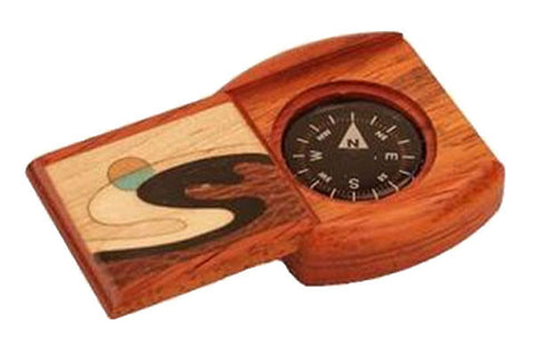 Handcrafted Wood Compass