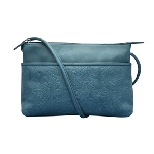 Leather Embossed Crossbody Bag