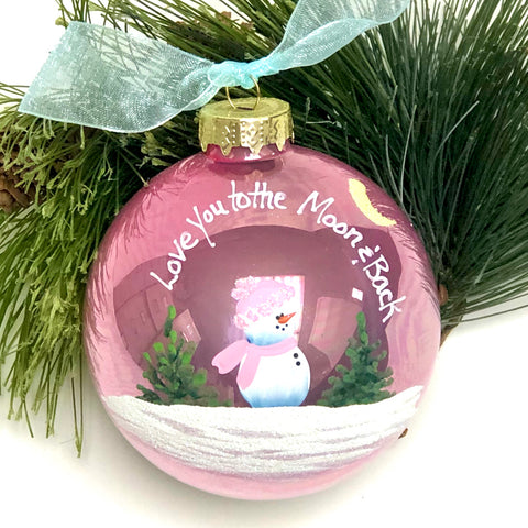 "Handpainted ""Love you to the Moon"" Ornament"