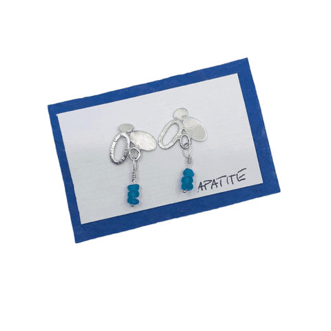 Sterling Silver Pebble Collection Stone Earring