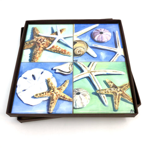 Coaster Set Seashells
