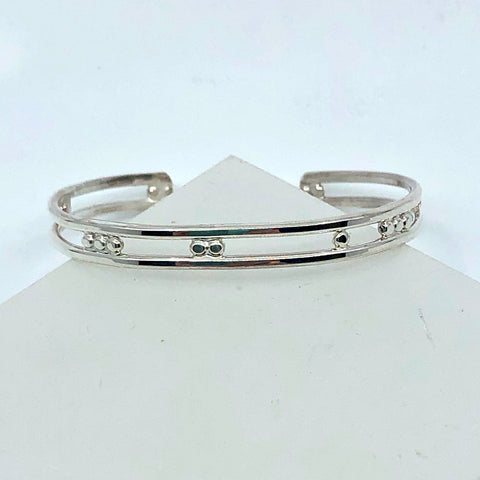 Sterling Silver Double Wire Cuff