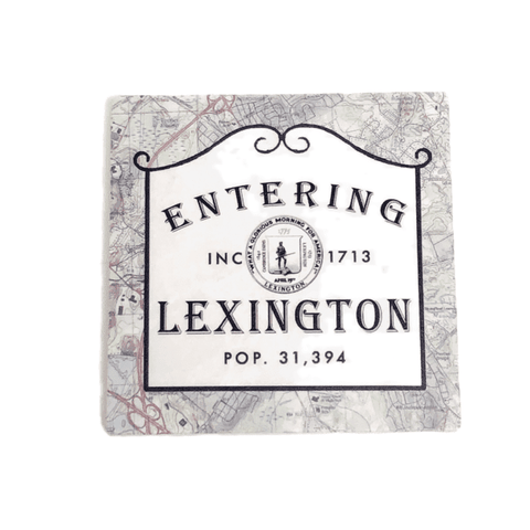 Entering Lexington Stone Coaster