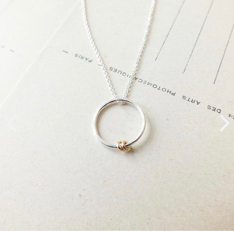 "Circles Necklace - ""We have been friends ..."""