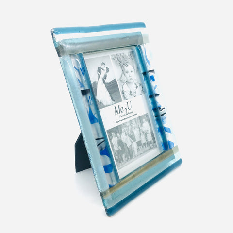 Fused Glass Frame - Blue Jay