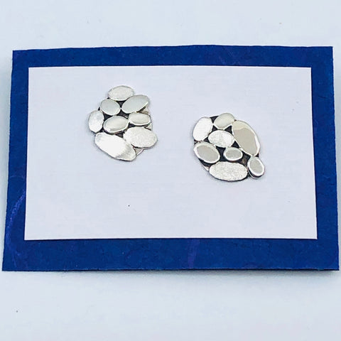 Sterling Silver Pebble Collection Earring