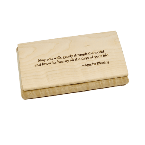 Engraved Quote Box - Apache Blessing