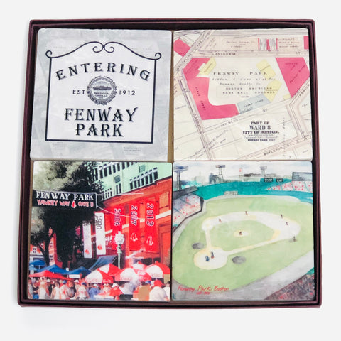 Fenway Park Set/4 Stone Coasters