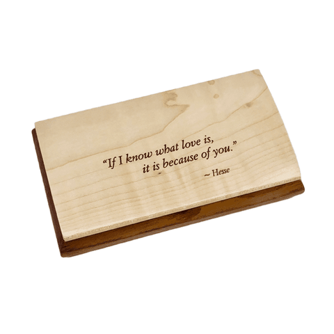Engraved Quote Box - If I Know