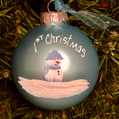 "Handpainted ""Baby's 1st Christmas"" Ornament"