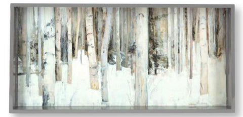 Art Tray - 10x20 Birch Trees