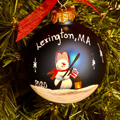 Handpainted Lexington Minuteman Ornament