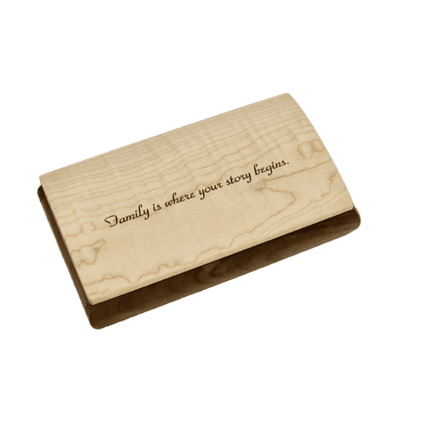 Engraved Quote Box - Family