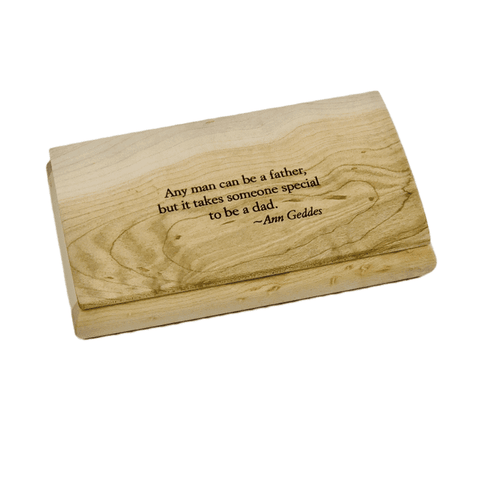 Engraved Quote Box - Any Man