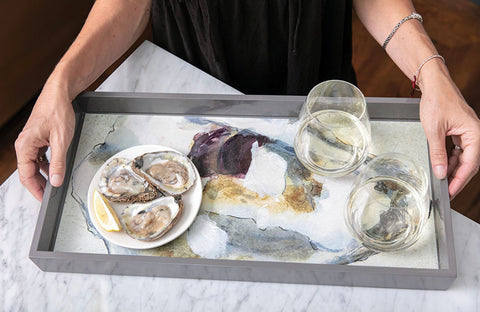 Art Tray - 10x20 Oyster Shell