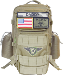 Khaki Daddy Diaper Backpack by Tactical Dad™