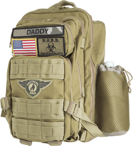 Khaki Dad On Diaper Duty(D.O.D.D.) XH Backpack w/ Badges - Tactical Dad®