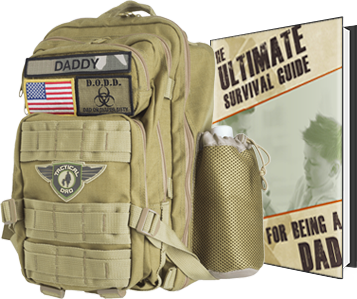 Khaki Daddy Diaper Backpack by Tactical Dad™ - Tactical Dad®