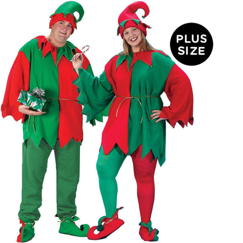 Classic Elf Adult Plus Costume