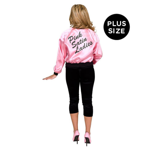 Pink Dolls Satin Jacket Adult Plus Costume